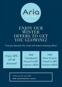 EOFY Sale at Aria Skin and Body
